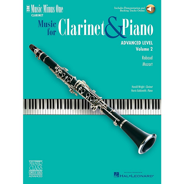 Music Minus OneAdvanced Clarinet Solos - Volume II Music Minus One Series BK/CD Performed by Harold Wright