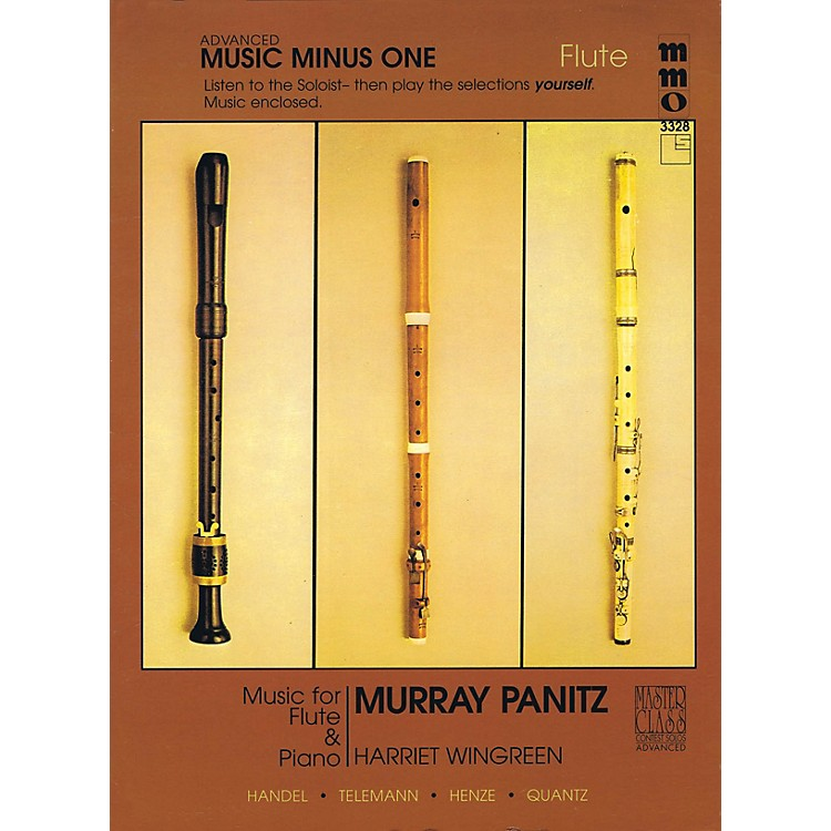 Music Minus OneAdvanced Flute Solos - Volume 3 Music Minus One Series Softcover with CD Performed by Murray Panitz