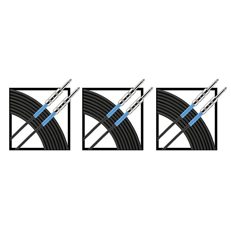LivewireAdvantage Instrument Cable Regular 10 ft. Black 3-Pack