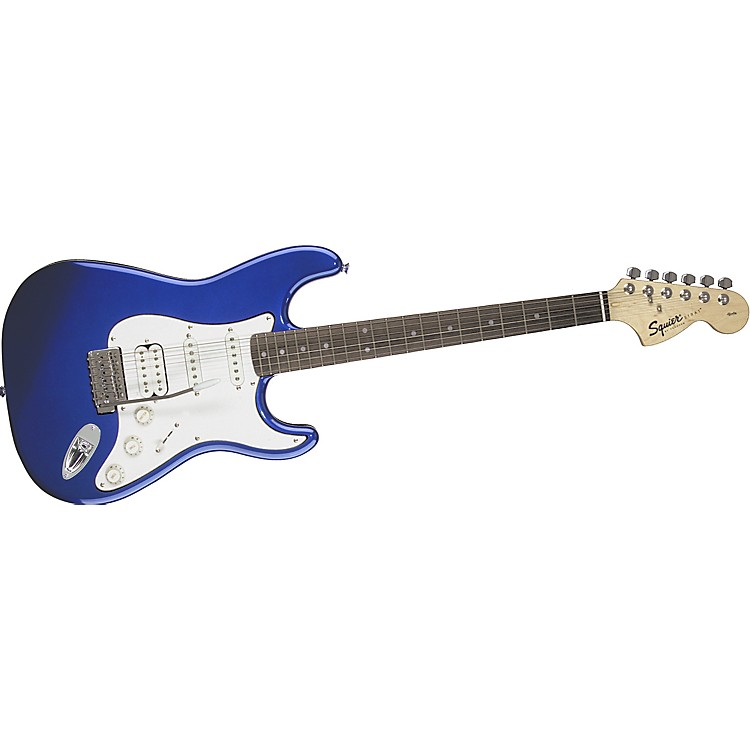 Squier Affinity Series Fat Strat Electric Guitar Metallic Blue