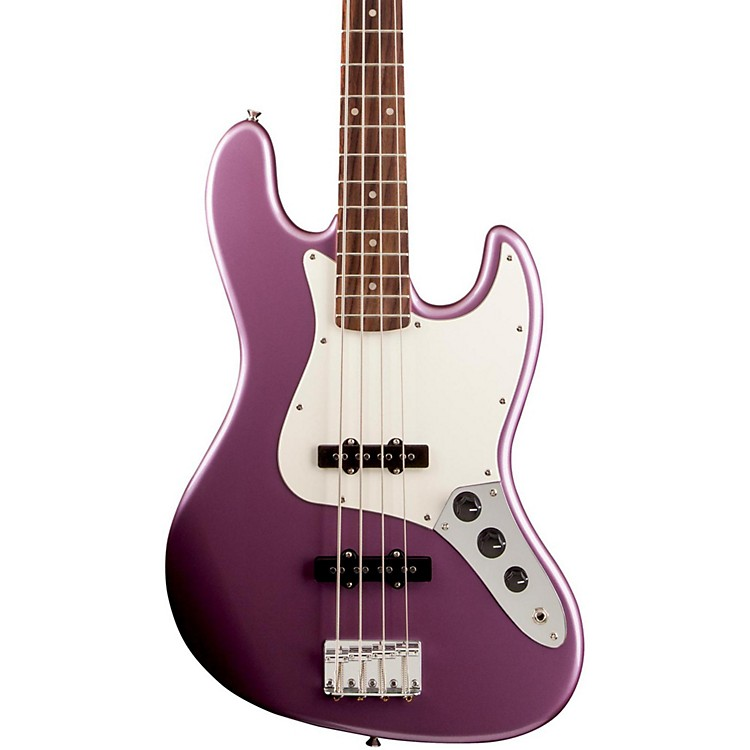 Squier Affinity Series Jazz Bass Guitar Burgundy Mist Metallic Rosewood Fingerboard