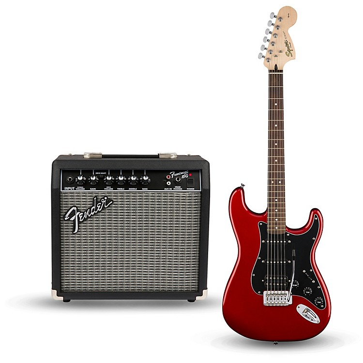 squier affinity series strat pack hss electric guitar with fender frontman 15g amp music123. Black Bedroom Furniture Sets. Home Design Ideas