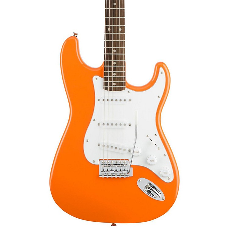 Squier Affinity Series Stratocaster Electric Guitar with Rosewood Fingerboard Competition Orange