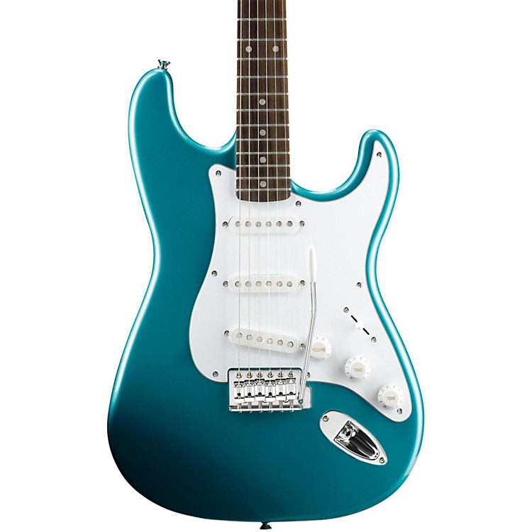 Squier Affinity Series Stratocaster Electric Guitar with Rosewood Fingerboard Lake Placid Blue Rosewood Fingerboard