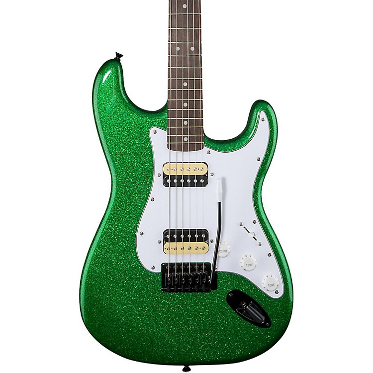 SquierAffinity Series Stratocaster HH with Tremolo Electric GuitarCandy Green