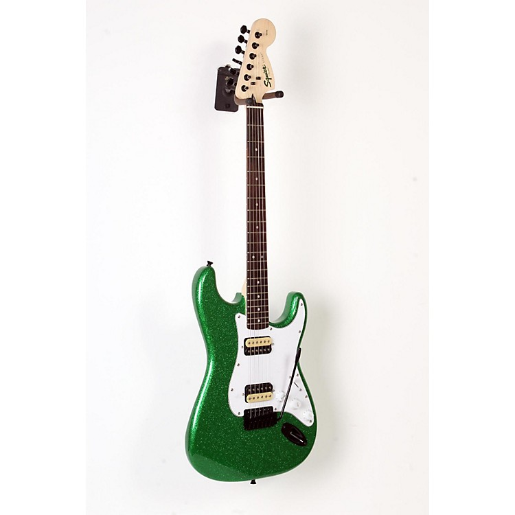 Squier Affinity Series Stratocaster HH with Tremolo Electric Guitar Candy Green 888365901114