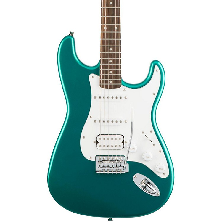 Squier Affinity Series Stratocaster HSS Electric Guitar with Rosewood Fingerboard Race Green