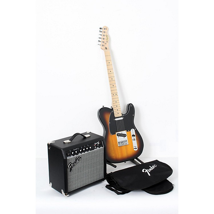 Squier Affinity Series Telecaster Electric Guitar Pack with 15G Amplifier Brown Sunburst 888365905815