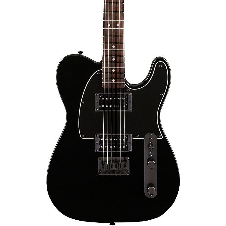 Squier Affinity Telecaster HH Electric Guitar with Matching Headstock Metallic Black