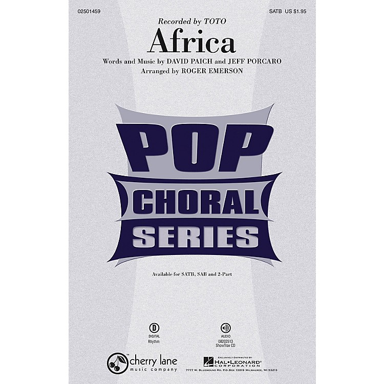 Cherry LaneAfrica SATB by Toto arranged by Roger Emerson