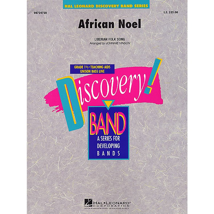 Hal Leonard African Noel Concert Band Level 1.5 Arranged by Johnnie Vinson