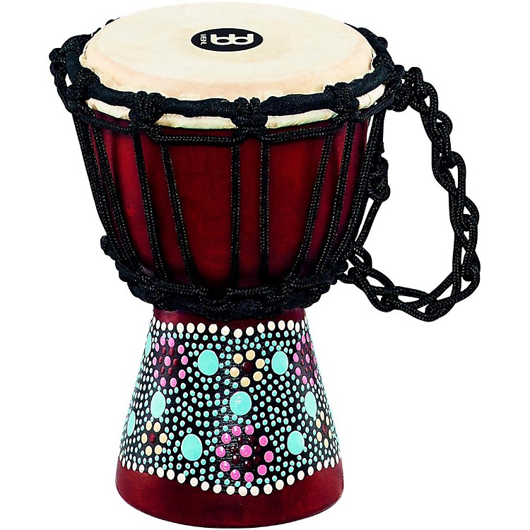 Meinl African-Style Mini Djembe 4.5 in. Flower