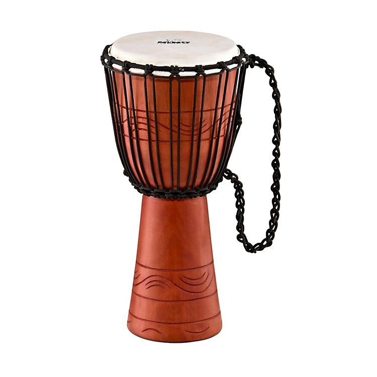 Nino African Style Rope Tuned Djembe Small Water Series 10 in.