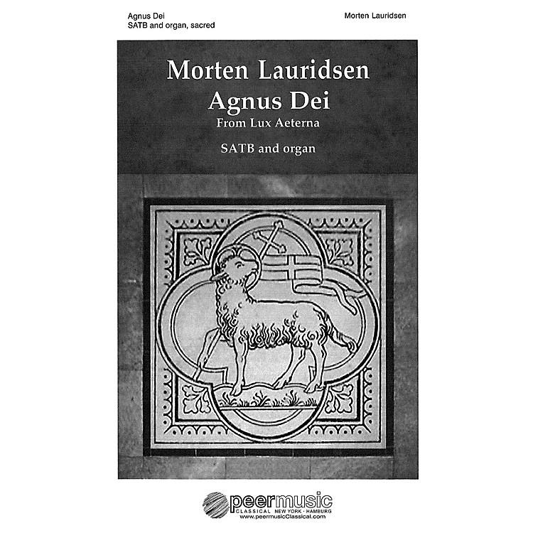Peer MusicAgnus Dei (from Lux Aeterna SATB and Organ) Composed by Morten Lauridsen