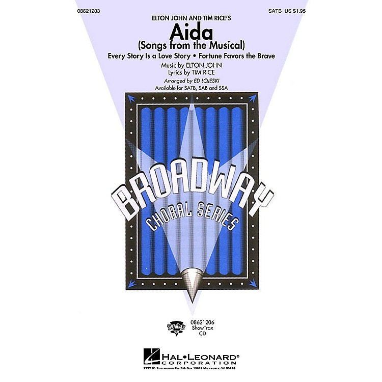 Hal LeonardAida (Songs from the Musical) ShowTrax CD Arranged by Ed Lojeski