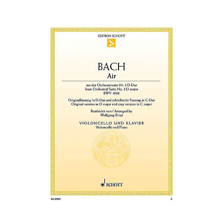 Schott Air from Orchestral Suite No. 3 in D Major BWV 1068 String Series Softcover