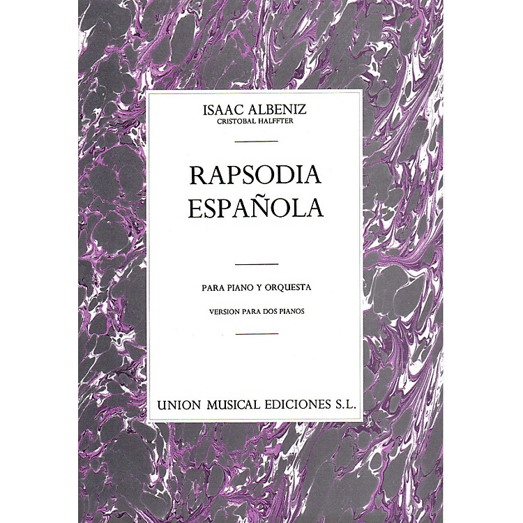 Music SalesAlbeniz Rapsodia Espanola (halffter) 2 Pf Music Sales America Series