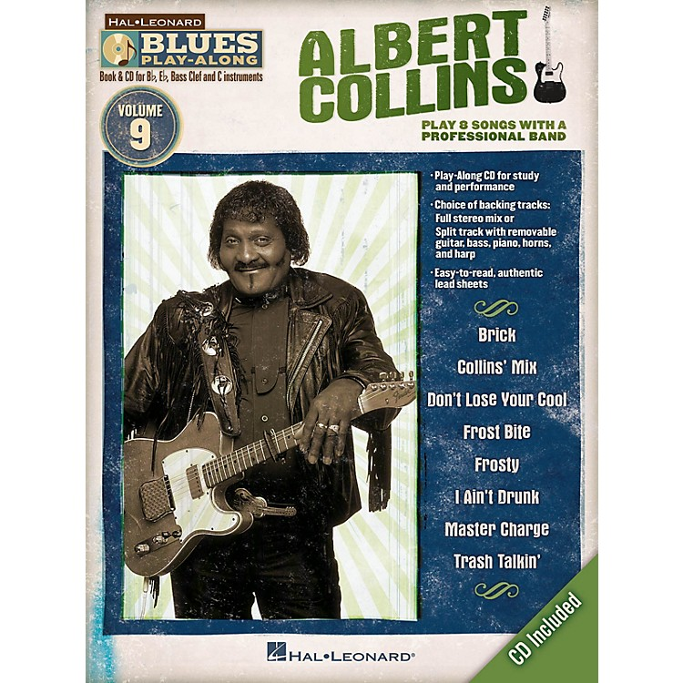 Hal LeonardAlbert Collins (Blues Play-Along Volume 9) Blues Play-Along Series Softcover with CD by Albert Collins