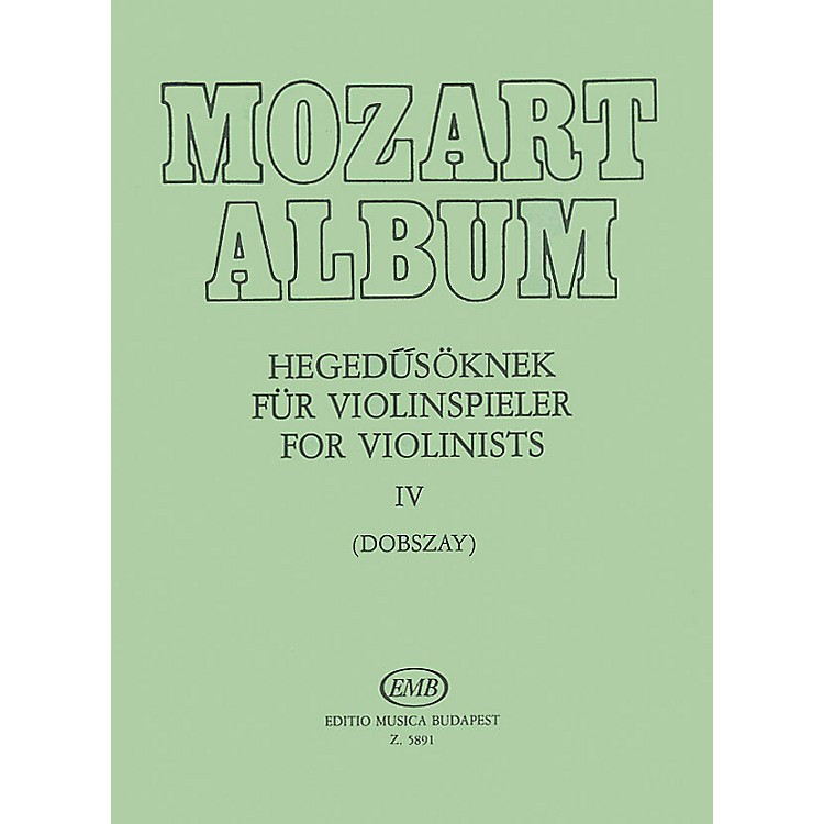 Editio Musica BudapestAlbum for Violin - Volume 4 Adagio & Andante Movements EMB Series