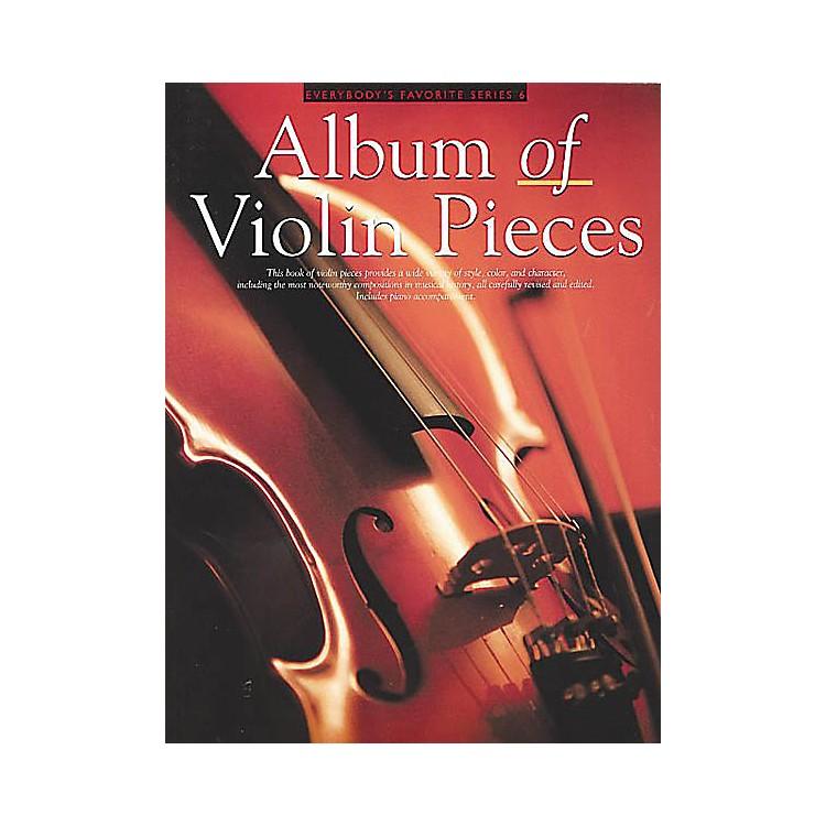 Music SalesAlbum of Violin Pieces (Everybody's Favorite Series, Volume 6) Music Sales America Series Softcover