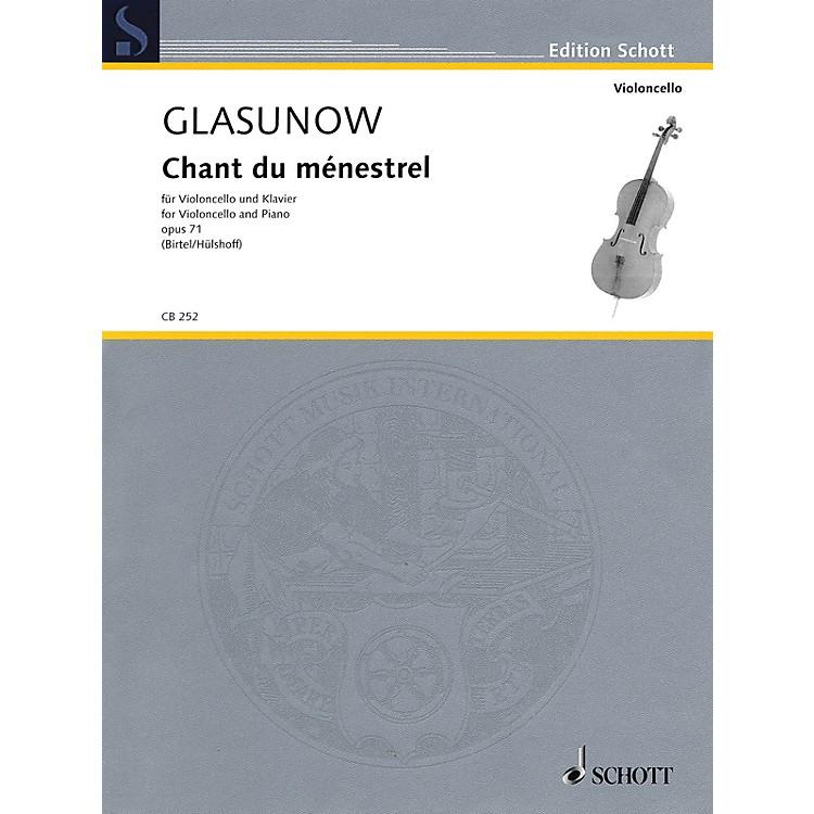 SchottAlexander Glazunov - Chant du ménestrel, Op. 71 (Cello and Piano) String Series Softcover