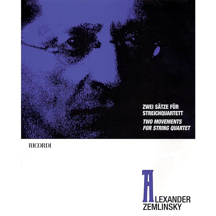 RicordiAlexander Zemlinsky - Two Movements for String Quartet Ensemble Series Composed by Alexander Zemlinsky