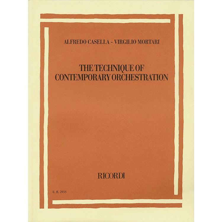 RicordiAlfredo Casella/Virgilio Mortari - The Technique of Contemporary Orchestration Misc Series