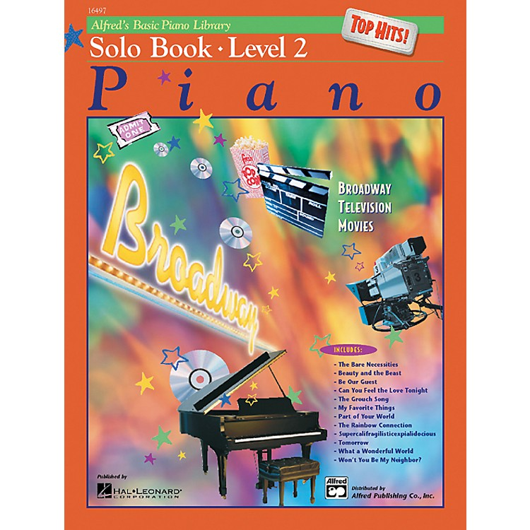 Alfred Alfred's Basic Piano Course Top Hits! Solo Book 2