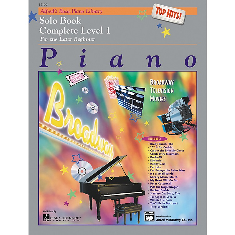 AlfredAlfred's Basic Piano Course Top Hits! Solo Book Complete 1 (1A/1B)