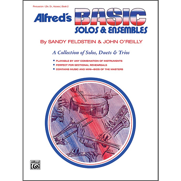 AlfredAlfred's Basic Solos and Ensembles Book 2 Percussion Snare Drum Bass Drum & Accessories