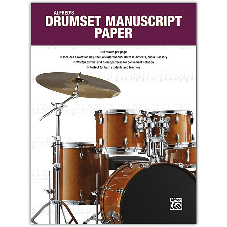 AlfredAlfred's Drumset Manuscript Paper, Book
