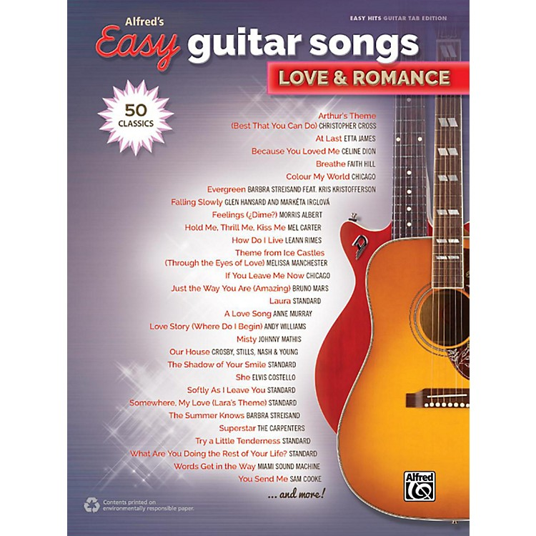 AlfredAlfred's Easy Guitar Songs - Love & Romance Easy Hits Guitar TAB Songbook