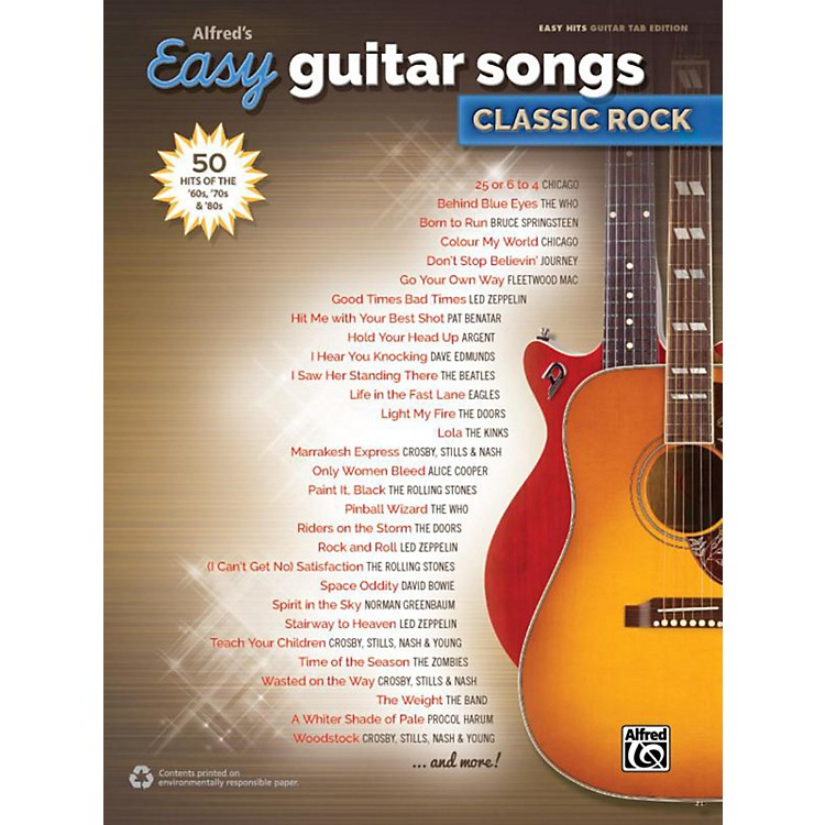 Alfred Alfred's Easy Guitar Songs: Classic Rock - Easy Hits Guitar TAB