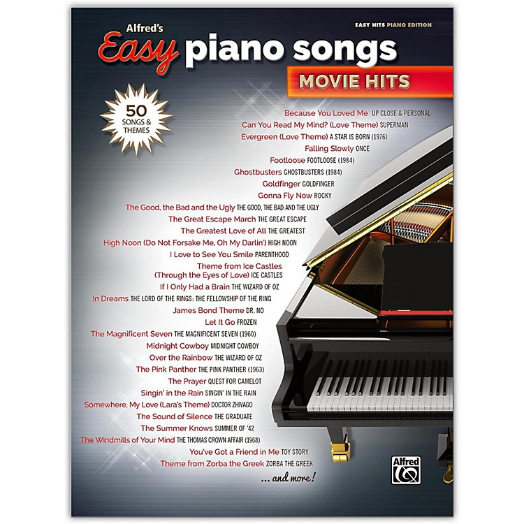 Alfred Alfred's Easy Piano Songs: Movie Hits Easy Hits Piano Songbook
