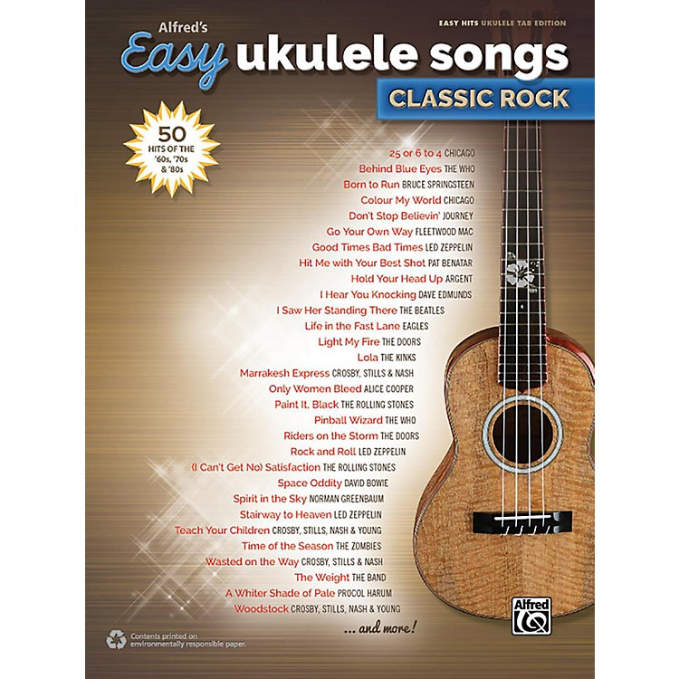 Alfred Alfred's Easy Ukulele Songs: Classic Rock - Easy Hits Ukulele TAB