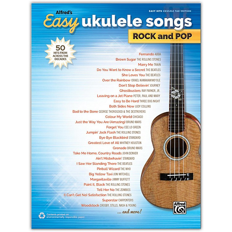 Alfred Alfred's Easy Ukulele Songs: Rock and Pop, Easy Hits Ukulele TAB Songbook