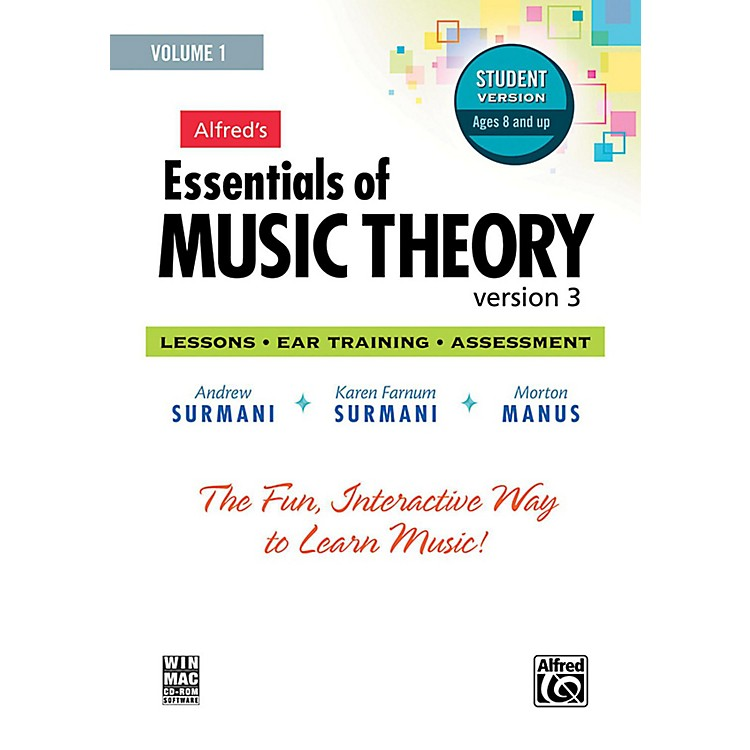 AlfredAlfred's Essentials of Music Theory: Software, Version 3 CD-ROM Student Version, Volume 1
