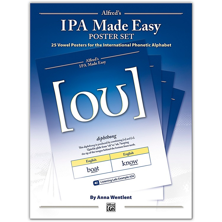 AlfredAlfred's IPA Made Easy 25-Poster Set with Online Audio