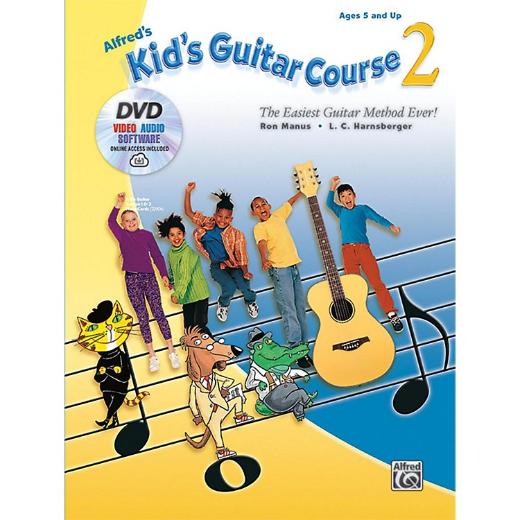 Alfred Alfred's Kid's Guitar Course 2 Book DVD & Online Audio Video & Software Beginner