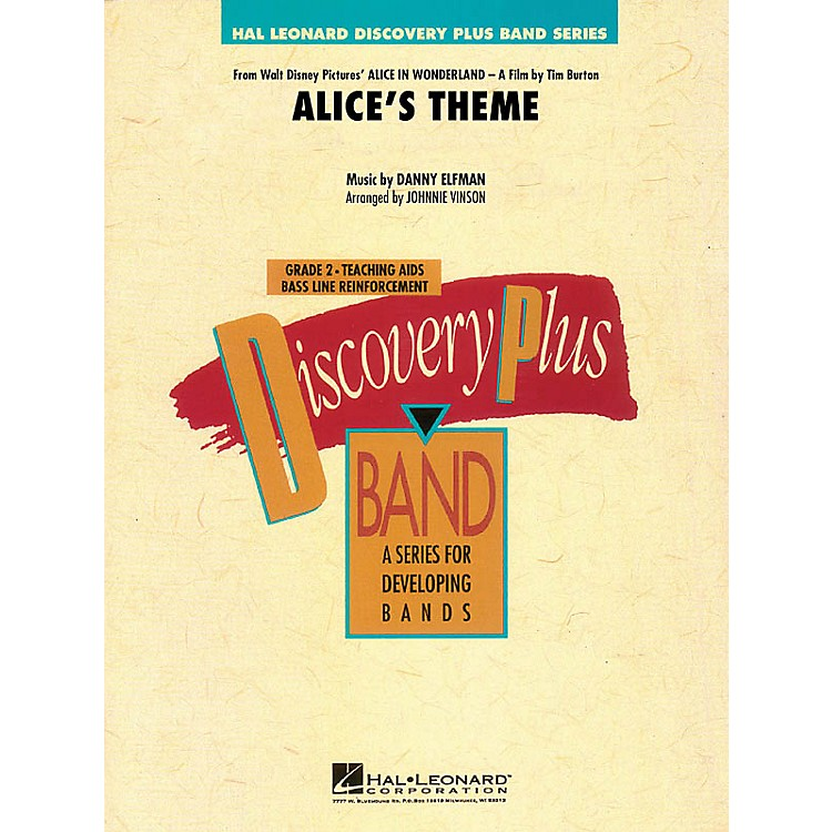 Hal Leonard Alice's Theme (from Alice in Wonderland) - Discovery Plus Band Level 2 arranged by Johnnie Vinson