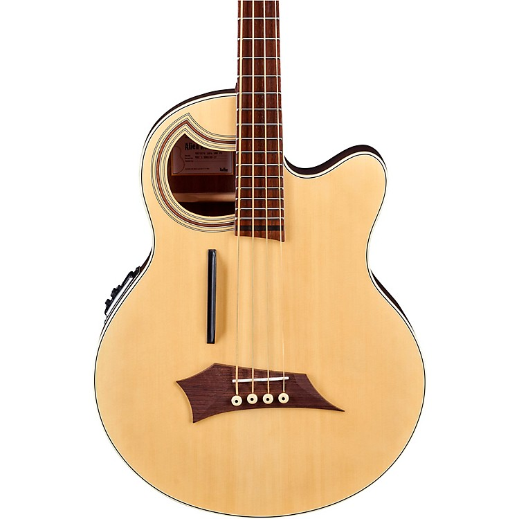 Warwick Alien Deluxe Thinline 4-String Acoustic-Electric Bass Natural Hi Polish