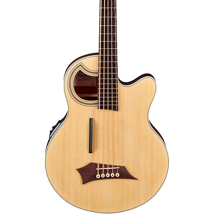 Warwick Alien Deluxe Thinline 5-String Acoustic-Electric Bass Natural Hi Polish