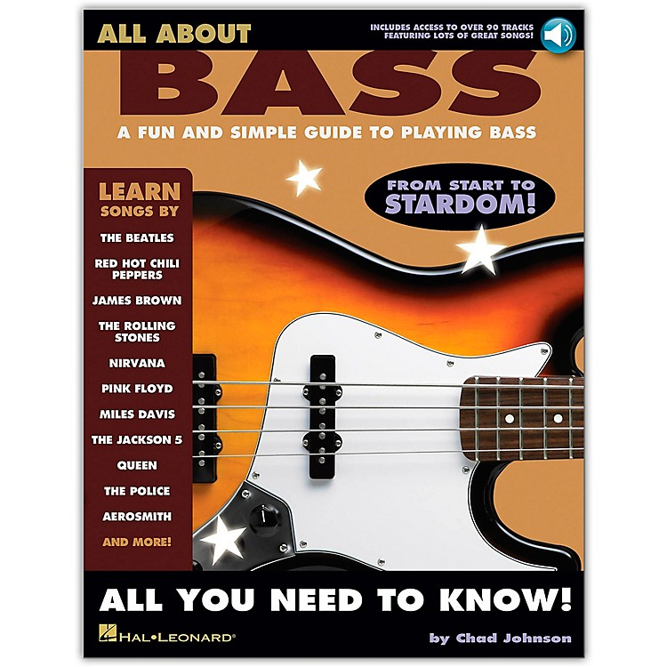 Hal LeonardAll About Bass (Fun & Simple Guide To Playing Bass From Start To Stardom) (Book/Online Audio)