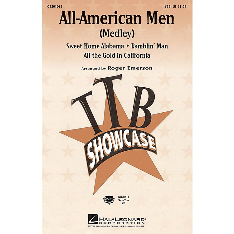 Hal LeonardAll-American Men (Medley) ShowTrax CD Arranged by Roger Emerson
