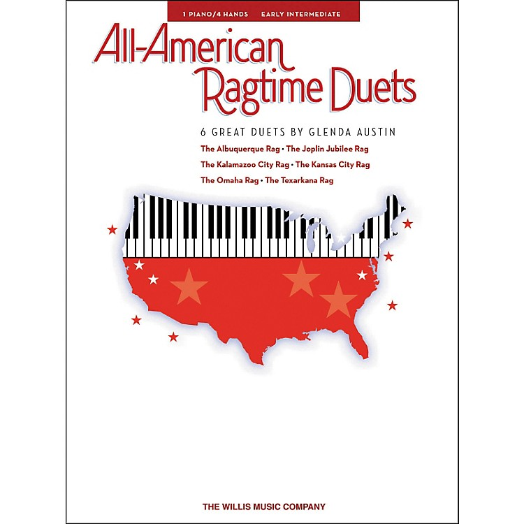 Willis MusicAll-American Ragtime Duets Early Intermediate 1 Piano 4 Hands by Glenda Austin