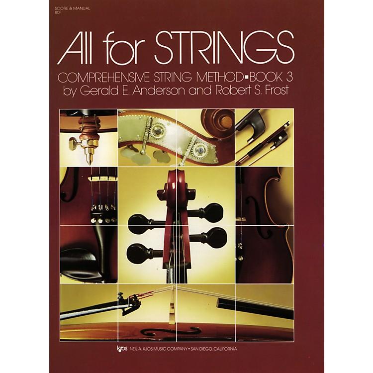 KJOSAll For Strings Book 3 Score