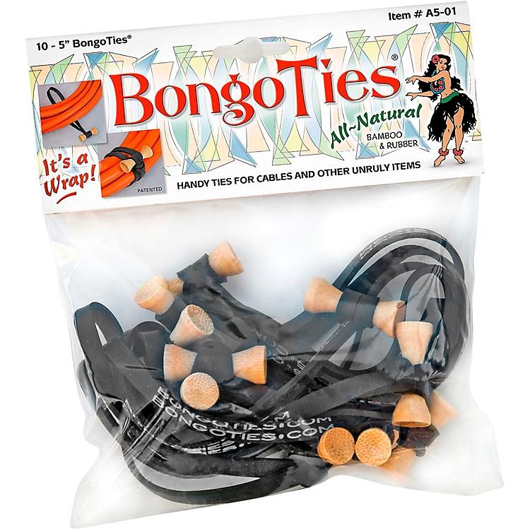 BongoTiesAll-Purpose Tie WrapsBamboo and Black Rubber