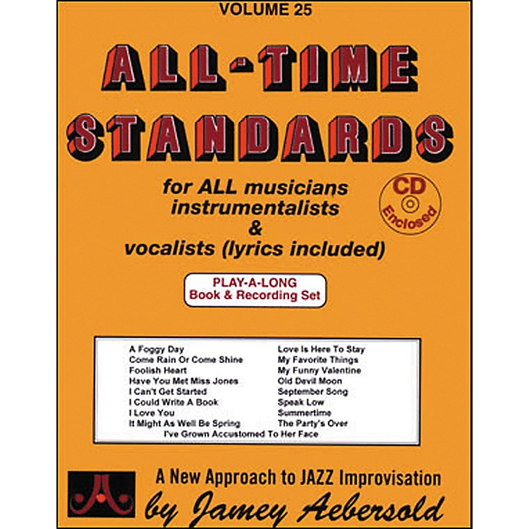 Jamey AebersoldAll Time Standards Book and CD