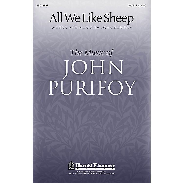 Shawnee PressAll We Like Sheep SATB composed by John Purifoy
