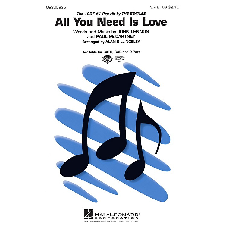 Hal Leonard All You Need Is Love ShowTrax CD by The Beatles Arranged by Alan Billingsley